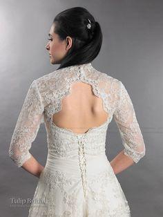 lace bolero with keyhole back