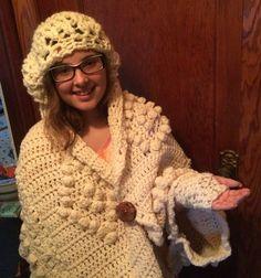 upcycled crochet poncho