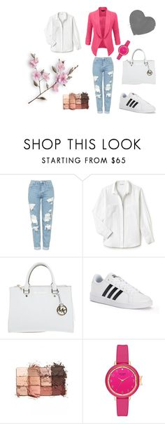 """""""Bez naslova #13"""" by amelito ❤ liked on Polyvore featuring LE3NO, Topshop, Lacoste, Michael Kors, adidas and tarte"""