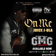 ON ME By: Juice J-Ula in His GMG Reloaded Album !! Available NOW! Buy yours NOW! #iTunes #spotify #amazon #Googleplaystore #OnMe #Juicejula #GetMoneyGorillaz #Reloaded #wearethestreets #wearestreetvibes #streetmusic #streetvibes