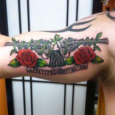 Bff Tattoos, Mini Tattoos, Tattoos For Guys, Sleeve Tattoos, Tatoos, Beatles Tattoos, Guns And Roses, Thigh Tattoo Designs, Tattoo Designs Men