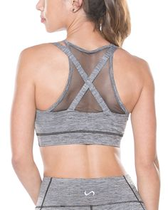The TLF Luna Bra is a high impact sports bra, featuring a sweetheart shape with front and back mesh piecing.This bra can be worn during any high impact workout, to the beach as a swim top or under your open back top.