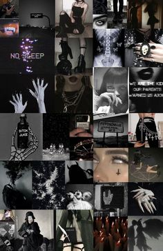 Dark Aesthetic Photo Collage