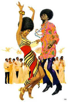 """mudwerks:  … """"the cotillion"""" (by x-ray delta one) artist - Robert McGinnis  Jomohair: I dig the afros."""