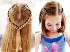 Cool, Fun & Unique Kids Braid Designs -Simple & Best Braiding Hairstyles For Kids Easy Hairstyles For Kids, Kids Braided Hairstyles, Cute Hairstyles For Short Hair, Different Hairstyles, Little Girl Hairstyles, African Hairstyles, Diy Hairstyles, Curly Hair Styles, Simple Hairstyles