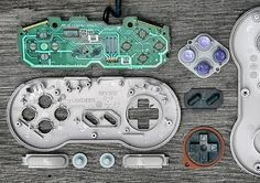 Deconstructed Video Game Controllers by Brandon Allen | Inspiration Grid | Design Inspiration