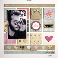 """Hobby di Carta - Il blog: LAYOUT: """"Love is... colours and joy"""" by Silva"""