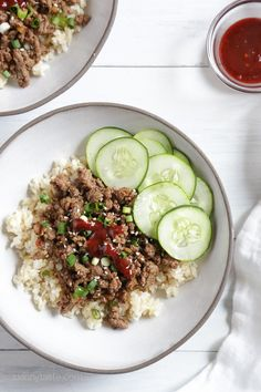 TRIED: Korean Beef Rice Bowls| Skinnytaste. Great flavor, quick stovetop recipe.