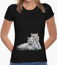 T-shirt TIGRI BIANCHE