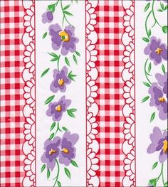 Flowers and Gingham Red