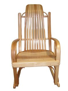 Lovely Amish Bentwood Rocker Made From Hickory Wood