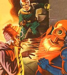 oldschoolsciencefiction: Captain Future takes aim at his...