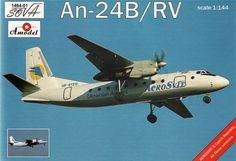 Antonov An-24B / An-24RV. A Model, 1/144, injection, No.1464-1. Price: 12,96 GBP.