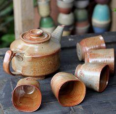 Pottery Tea Set Ceramic Teapot Handmade Pottery Teapot