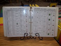 Classroom Organization ~ Stand your lesson plan up on a recipe book holder! #TeachersFollowTeachers