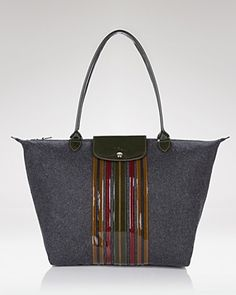 Longchamp - more sophisticated than the solid colors and more unique.