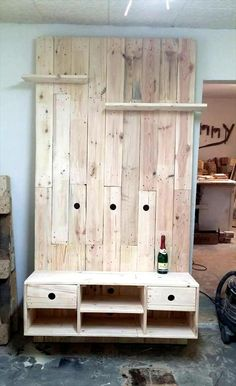Choco Pallet TV Panel Wall | 99 Pallets                                                                                                                                                                                 More