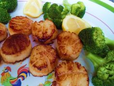 Butter sea scallops
