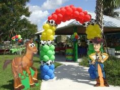 Page 2 « Balloon Decorations Woody Birthday Parties, Woody Party, 2nd Birthday Boys, Cowboy Birthday, Toy Story Birthday, Birthday Party Themes, Birthday Ideas, Toy Story Baby, Toy Story Theme