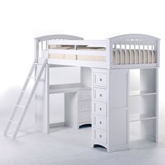 Schoolhouse Student Loft Bed - White - Loft Beds at Simply Bunk Beds $1,049