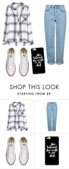 """""""Untitled"""" by muskan5sos on Polyvore featuring Rails, Topshop and Converse"""