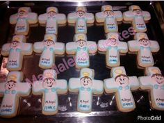 Galletas decoradas, bautizo, angelitos