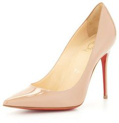 Christian Louboutin Decollete Patent Leather Red Sole Pump