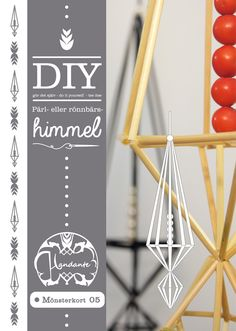 Blogg - Handante Easy Craft Projects, Diy Projects To Try, Crafts To Make, Diy Crafts, Straw Crafts, Christmas Crafts, Christmas Ornaments, Natural Christmas, Art Template