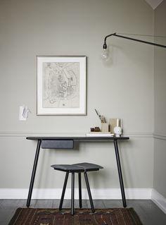 ★ Georg desk black and Georg stool design by Christina Liljenberg Halstrøm ★