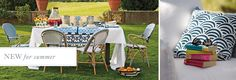Summer Party Time! This is sophisticated, but a kid would feel comfortable too. This is lovely  New For Summer Outdoor | Serena & Lily