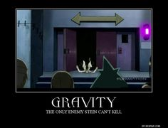 Gravity: the only enemy Stein can't kill, funny, Stein, wheely chair, spinning chair, Maka, Black Star, Tsubaki, Soul; Soul Eater