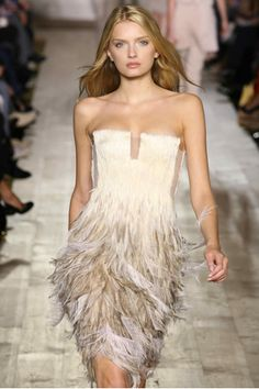 Feathered couture