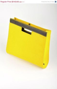 "Great Sale on Everything Yellow Felt folder-portfolio ""Oscar"". Original, beautiful and unique. Made from natural (100% wool) felt premium qu..."