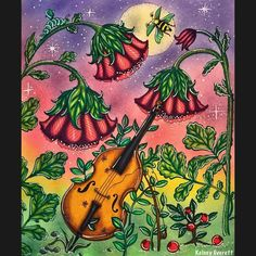 Just finished this #coloring from the #coloringbook #carovnelahodnosti by @klaramarkovajewels This is such a beautiful book, and one of my new favorites!! Have a great weekend everyone❤️ #klaramarkova #magicaldelights #adultcoloring #coloringforadults #watercolor #art #drawing #violin #cello #music #sunset #enchanted #johannabasford #hannakarlzon #fabercastell #nightsky #artist #color #painting #summer #garden #fantasy #fantasyart #artsy #beautiful #crafts @_kelsey_everett_  My dog's acco...