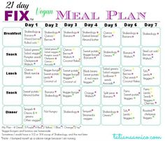 Click here to check out what the first week on 21 Day Fix looks like! Including a vegan meal plan and shopping guide #21dayfix