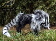 -SOLD-Hand Made Posable Frosted Ghost Wolf by Wood-Splitter-Lee.deviantart.com on @deviantART