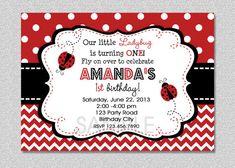 Ladybug Birthday Invitation Ladybug Birthday by TheTrendyButterfly, $15.00