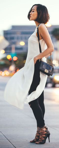 Black And White Chic Style by The Christelle Factor