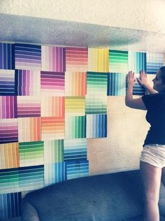 12 Fun and Colorful DIY Paint Swatch Projects                                                                                                                                                                                 More