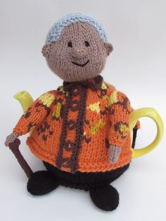Hot off the needles, the Nelson Mandela Tea Cosy http://www.teacosyfolk.co.uk/show.php?id=183&n=Nelson%20Mandela%20Tea%20cosy