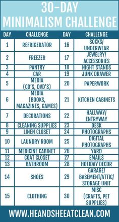 30-Day Minimalism Challenge | He and She Eat Clean #clutterhelp