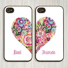Colorful BFF Matching iPhone 5 Cellphone Case, iPhone 6, 5 5s, iPhone... ($9.99) ❤ liked on Polyvore