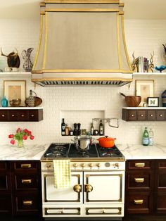 """brown cabinets with white marble tops without being """"modern"""""""