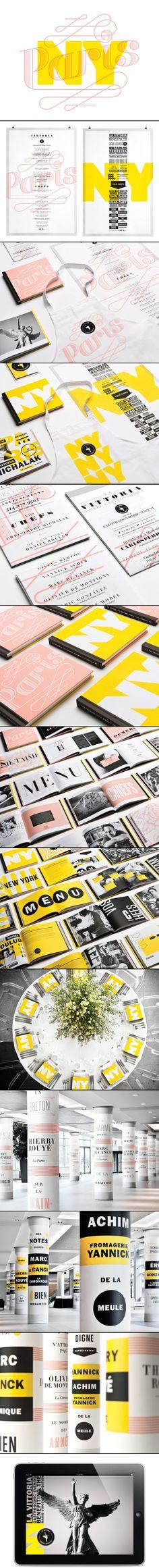 Paris - New York 2011 Branding Client: La Vittoria Brand Identity Design, Corporate Design, Branding Design, Logo Design, Corporate Identity, Letterhead Design, Graphic Design Typography, Restaurant Branding, Logo Branding