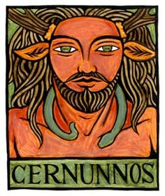"""Cernunnos is the continental Celtic Lord of Animals. His name means """"the Horned One"""". He was one of the major Gods worshipped by the Celts, and representations of Him are found all throughout Europe. art by Thalia Took"""