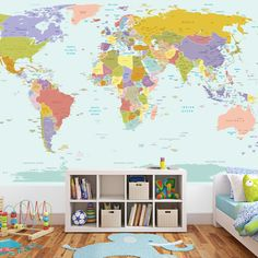 Image result for wall sticker world map