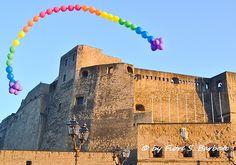 Napoli (NA), 2013, Via Partenope e Castel dell'Ovo.