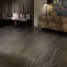 Matita - luxury flooring collection by Foglie d'Oro (boiserie from the same co. by Interiors Wood Floor Pattern, Floor Patterns, Floor Design, Tile Design, House Design, Luxury Flooring, Timber Flooring, Types Of Hardwood Floors, Interior Design London