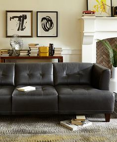 Alessia Leather Sofas, 2 Piece Set (Sofa and Loveseat) - Furniture - Macy's