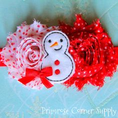 Christmas Baby Headband, Snowman Headband, Baby Headband, Flower Headband, Newborn Headband, Infant Headband, on Etsy, $9.99